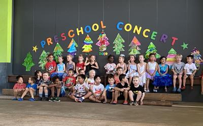 Our preschool students celebrated the end of their year with a fabulous Christmas concert.